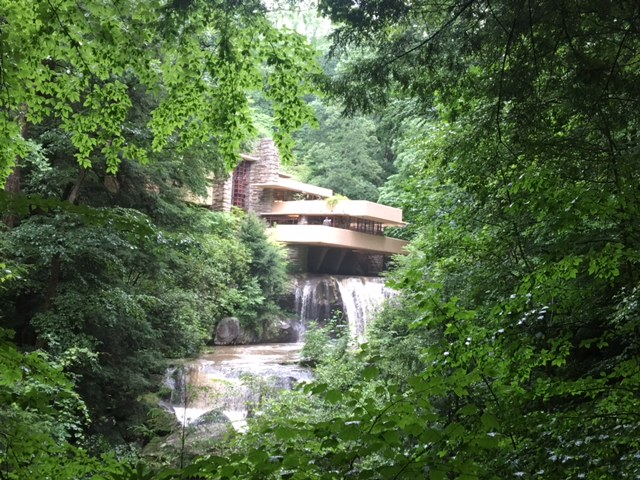 Fallingwater in southwestern Pennsylvania (designed by Frank Lloyd Wright)